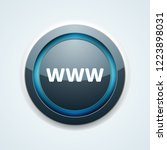 www internet button illustration | Shutterstock .eps vector #1223898031