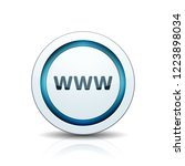www internet button illustration | Shutterstock .eps vector #1223898034