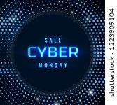 cyber monday sale technology... | Shutterstock .eps vector #1223909104