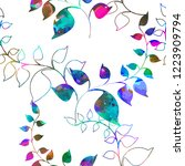 seamless colorfu pattern of... | Shutterstock .eps vector #1223909794