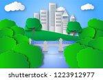 eco green city | Shutterstock . vector #1223912977