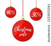 vector christmas sale. glass... | Shutterstock .eps vector #1223923261