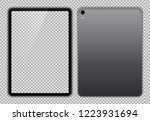 realistic grey   space gray... | Shutterstock .eps vector #1223931694