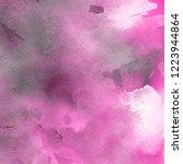 pink ink and watercolor... | Shutterstock . vector #1223944864