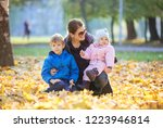 young woman with preschool son...   Shutterstock . vector #1223946814