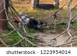 child's legs got tangled in... | Shutterstock . vector #1223954014