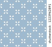 blue geometric seamless pattern ... | Shutterstock .eps vector #1223962891