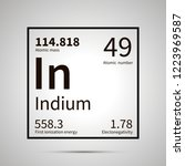 indium chemical element with... | Shutterstock .eps vector #1223969587