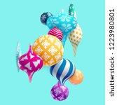 new year balls. | Shutterstock .eps vector #1223980801