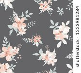 seamless floral pattern.... | Shutterstock .eps vector #1223981284