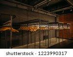 wooden hangers with numbers in...   Shutterstock . vector #1223990317