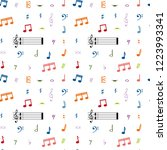 seamless pattern with colorful... | Shutterstock .eps vector #1223993341