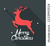 vector christmas deer icon. new ... | Shutterstock .eps vector #1223993524