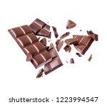 bar of chocolate is broken into ... | Shutterstock . vector #1223994547