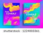 creative design fluid poster... | Shutterstock .eps vector #1224003361