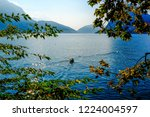 view of lugano lake with his... | Shutterstock . vector #1224004597