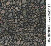 seamless rough rustic cobbled... | Shutterstock . vector #1224024454