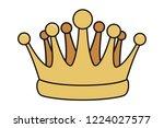 pop art crown cartoon | Shutterstock .eps vector #1224027577