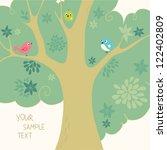 birds   tree | Shutterstock .eps vector #122402809