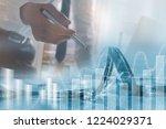 business analysis  stock market ... | Shutterstock . vector #1224029371