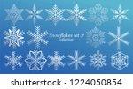 set of vector snowflakes... | Shutterstock .eps vector #1224050854