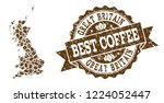compositions of coffee map of...   Shutterstock .eps vector #1224052447