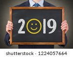 happy new year 2019 on...   Shutterstock . vector #1224057664