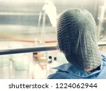 blurred of scientist doing the... | Shutterstock . vector #1224062944