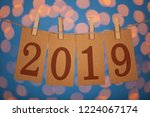 new year 2019 concept clipped...   Shutterstock . vector #1224067174