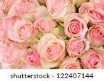 bouquet of pink luxury roses... | Shutterstock . vector #122407144