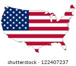 united states vector map with... | Shutterstock .eps vector #122407237
