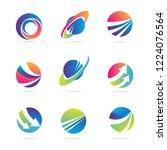 global finance company business ... | Shutterstock .eps vector #1224076564