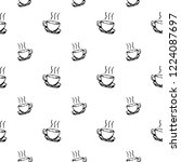 Seamless Pattern Hand Drawn Cup....