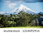 mountain over trees | Shutterstock . vector #1224092914