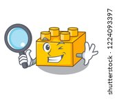 detective plastic shaped toy on ... | Shutterstock .eps vector #1224093397
