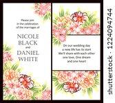 romantic wedding invitation... | Shutterstock . vector #1224094744