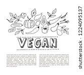 vegan design concept. vegan...   Shutterstock .eps vector #1224095137