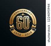 anniversary emblems template... | Shutterstock .eps vector #1224095944