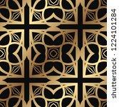 art deco vintage seamless... | Shutterstock .eps vector #1224101284