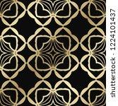 art deco vintage seamless... | Shutterstock .eps vector #1224101437