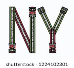 slogan typography with straps... | Shutterstock .eps vector #1224102301
