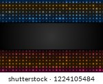 neon led lights abstract... | Shutterstock .eps vector #1224105484