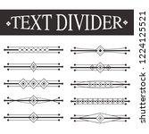 text divider vector | Shutterstock .eps vector #1224125521