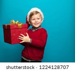funny little hipster in red... | Shutterstock . vector #1224128707
