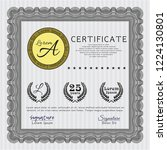 grey awesome certificate...   Shutterstock .eps vector #1224130801