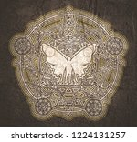 mystery  witchcraft  occult and ... | Shutterstock . vector #1224131257