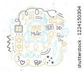 vector music set. love music.... | Shutterstock .eps vector #1224150304