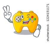 two finger video game... | Shutterstock .eps vector #1224151171
