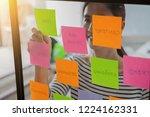 web designer brainstorming for... | Shutterstock . vector #1224162331