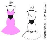 wedding dress design  isolated...   Shutterstock .eps vector #1224163867